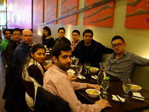 ESL members at Ginger Exchange Symphony restaurant