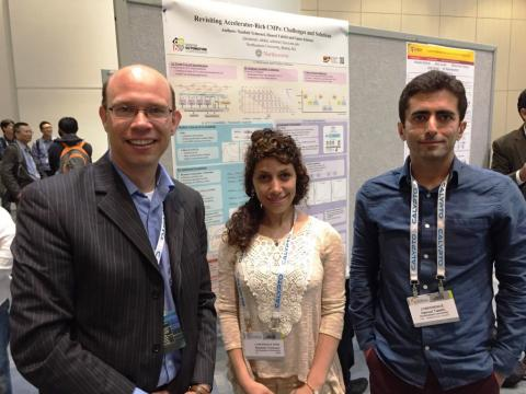 During the poster session
