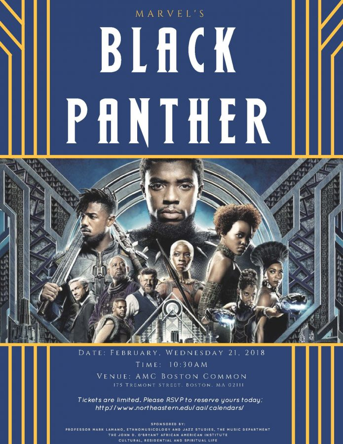"""Join us at AMC Loews Boston Common on Wednesday, February 21, 2018 for the  """"Black Panther"""" Movie Viewing exclusively brought to you by Professor Mark  Lamano ..."""