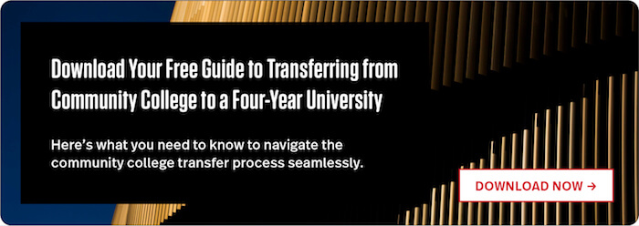 Download Our Guide to Transferring from Community College to a Four Year University