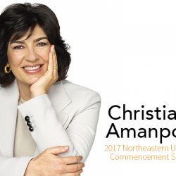 International Journalist Christiane Amanpour to Deliver Northeastern's 2017 Commencement Address
