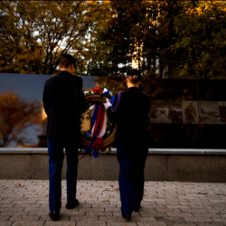 Northeastern honors veterans announces 1m family gift to support, name center