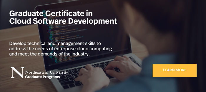 cloud software development cert cta