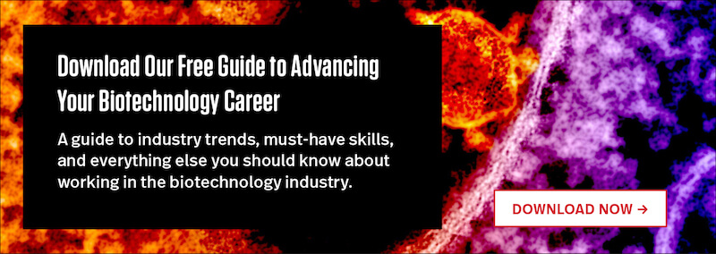 "Download Our Free Guide to Advancing Your Career in the Biotechnology Industry"" width="