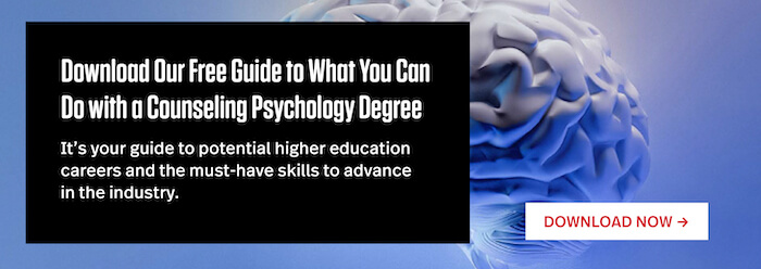 """Download Our Free Guide to Advancing Your Counseling Psychology Career"""" width="""