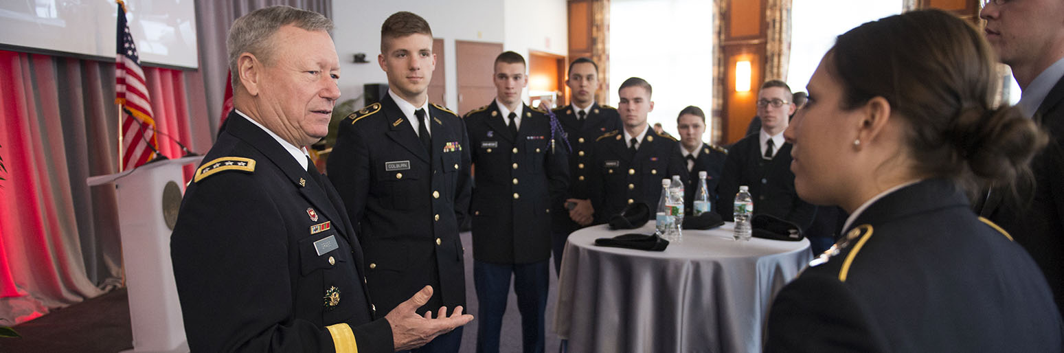 Four-star general praises Northeastern's National Guard partnership