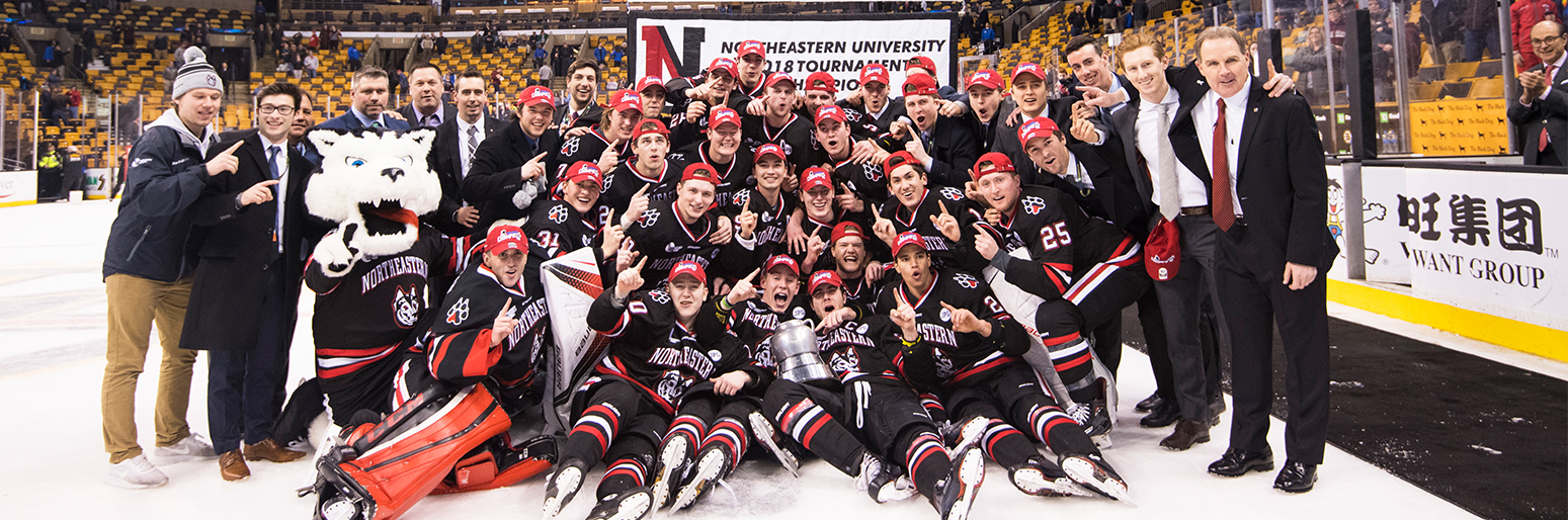 The wait is over. Northeastern wins Beanpot title!