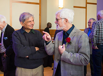 Professor honored for 45 years of service to Northeastern