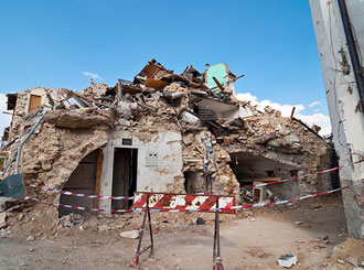 Infrastructure, shallow quake, cause Italian towns' destruction