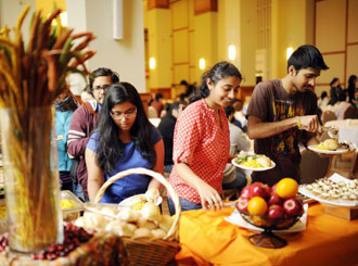 International students share Thanksgiving feast