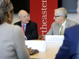 Northeastern hosts top higher ed official
