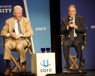 President Bill Clinton & Jon Stewart at CGIU 2012