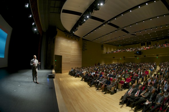 Blackman Auditorium, Reverse Innovation Lecture (c) Northeastern News