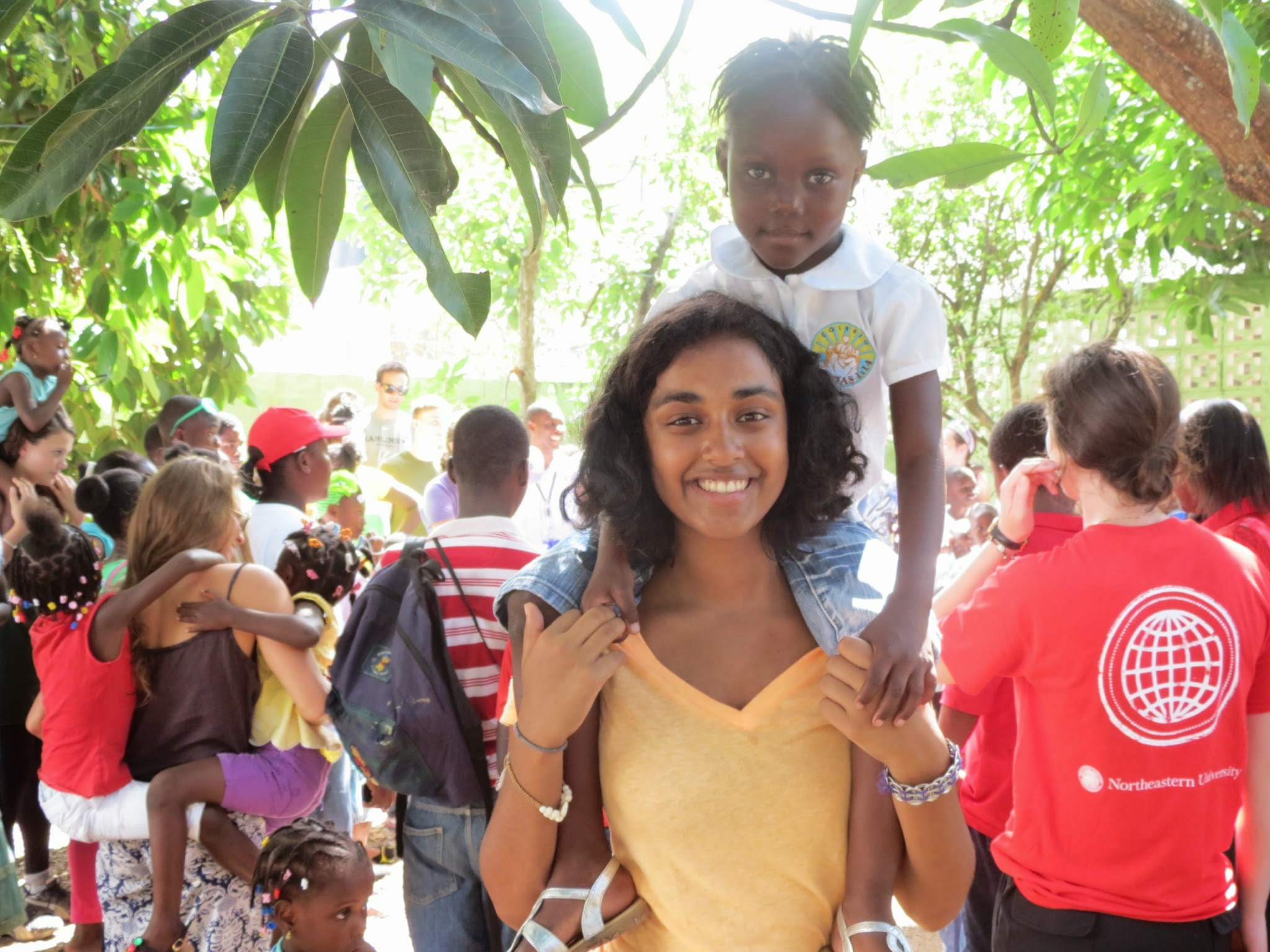NU student Eesha Ramanujam at Project Esperanza, Dominican Republic in 2014.