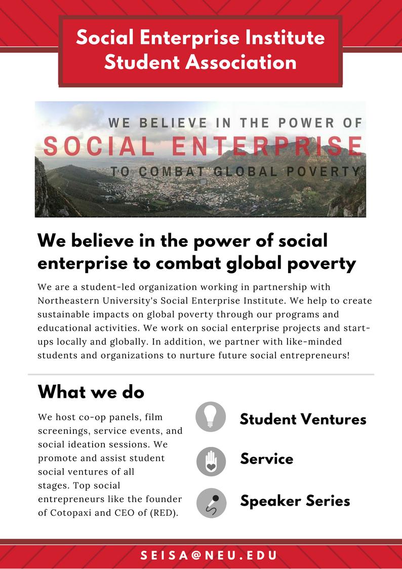 SEISA – Social Enterprise Institute at Northeastern University