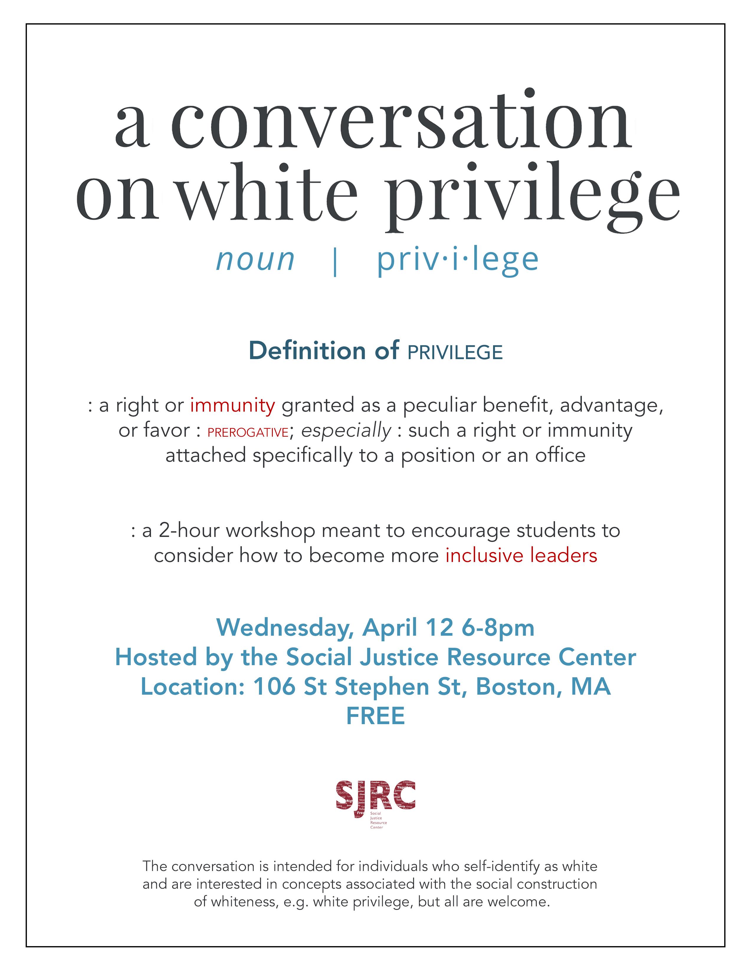 white priviledge