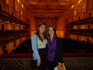 Kaila and Priscilla attend the Boston Symphony.