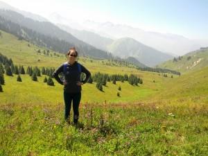 Vera Lee at home in Kazakhstan
