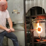 Sean from Diablo Glass heats the cube.