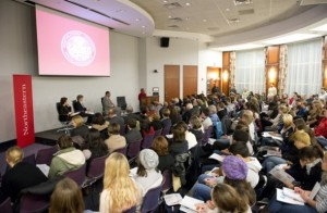 More than 200 students, faculty, and staff attended the sixth installment in a yearlong series on civic sustainability. Photo by Brooks Canaday.