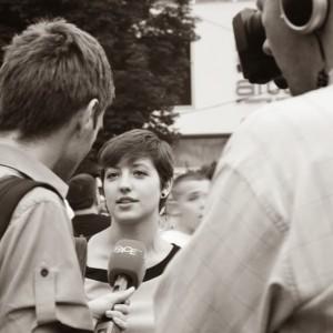 Sarah Lombardo in Sarajevo.