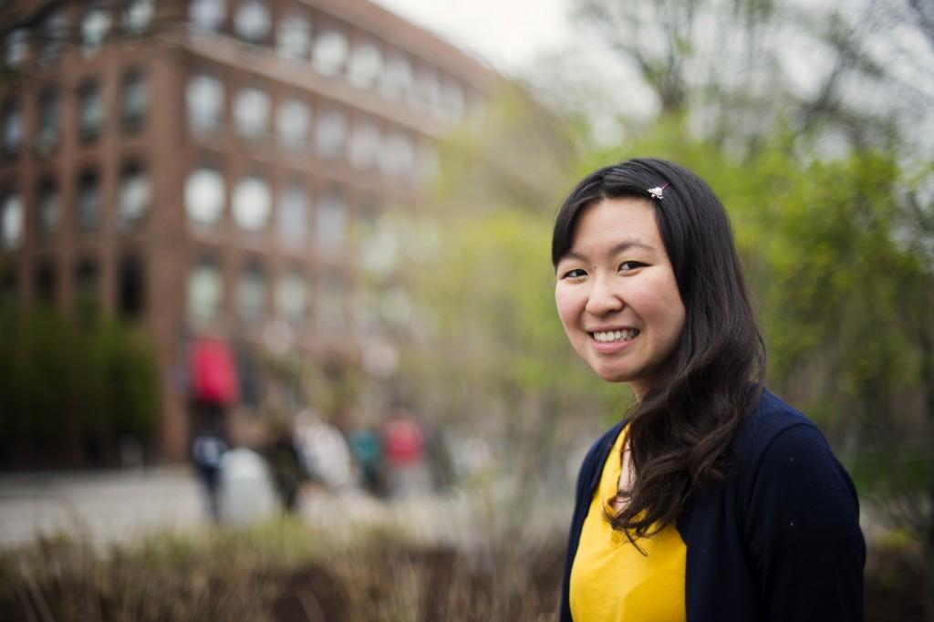 05/03/16 - BOSTON, MA. - Wendy Chu SSH'15 poses for a portrait on May 3, 2016. Photo by Adam Glanzman/Northeastern University