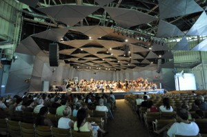 The BSO reherses in the Shed at Tanglewood, Fri July 22, 2011