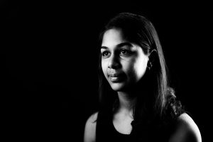 02/23/17 - BOSTON, MA. Aneri Pattani CAMD'17 poses for a portrait on Feb. 23, 2017. Photo by Adam Glanzman/Northeastern University